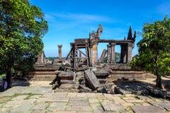 PREAH VIHEAR TEMPEL ett världsarv av det Cambodja kungariket av under Arkivfoton