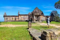 PREAH VIHEAR TEMPEL ett världsarv av det Cambodja kungariket av under Fotografering för Bildbyråer