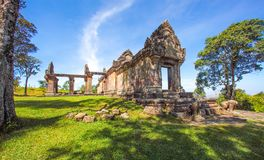 Preah Vihear Temple top at preah vihear mountain located in Preah Vihear Province Cambodia royalty free stock photos