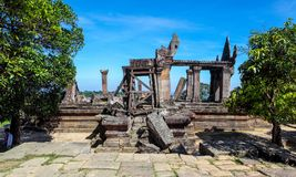 Preah Vihear Temple top at preah vihear mountain located in Preah Vihear Province Cambodia stock photo