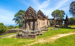 Preah Vihear Temple top at preah vihear mountain located in Preah Vihear Province Cambodia stock photography