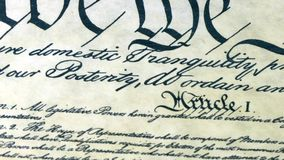 Preamble to the Constitution the United States of America Royalty Free Stock Image