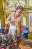Preapre新鲜的埃赛俄比亚的咖啡 图库摄影