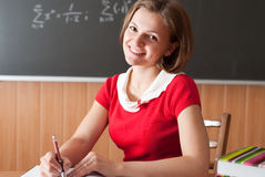 Preapring for the lesson stock photography