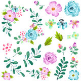 Preassembled Spring Flower Set stock illustration