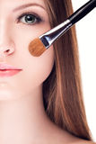 Preatty young woman with perfect skin Stock Photos