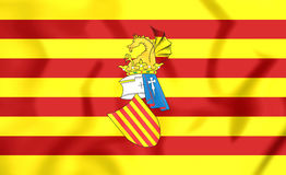 Preautonomous flag of the Land of Valencia Stock Photo