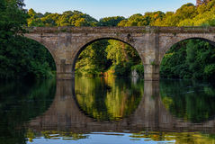 Prebends Bridge - Durham England UK. Prebends Bridge, along with Framwellgate and Elvet, is one of three stone-arch bridges in the centre of Durham, England Royalty Free Stock Images