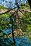 Prebendy Przerzucają most skrzyżowanie Rzecznej odzieży za gałąź w Durham, Anglia zdjęcie royalty free