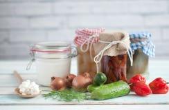 Free Prebiotic Fermented Foods Stock Image - 128606541