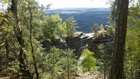 Prebischtor em um parque nacional em República Checa Fotos de Stock Royalty Free