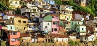 Precário do contorno em Salvador, Baía foto de stock royalty free