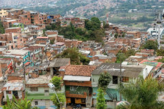 Precários na cidade de Medellin, Colômbia Fotos de Stock