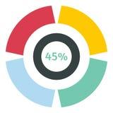 Precargador del web icono del 45 por ciento, estilo plano ilustración del vector