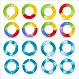 Precargadores y vectores del gráfico de sectores 3D Foto de archivo libre de regalías