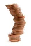 Precarious Pile of Coins Stock Photos