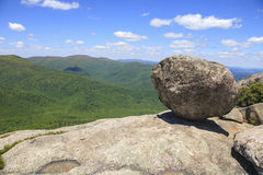 Precarious rock in Shenandoah National Park Royalty Free Stock Photos