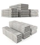 Precast betonu sedna pokładu złożone dudniące cegiełki. Zdjęcia Royalty Free