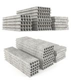 Precast concrete composite hollow core deck slabs. Royalty Free Stock Photography