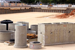 Precast Concrete in Construction Site Pit Stock Photography