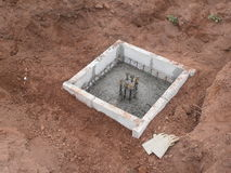 Precast concrete foundation in Thailand. Construction of houses with concrete in Thailand Royalty Free Stock Images