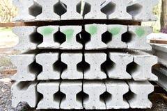 Precast concrete I-beam. Stack of precast concrete I-beam Royalty Free Stock Image