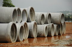 Precast Concrete Pipe Culvert Stock Images