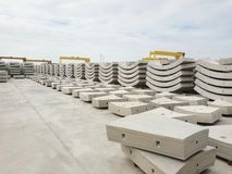 Free Precast Concrete Plant With Blue Sky In The Construction Site. Royalty Free Stock Photography - 132897217