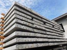 Precast plank concrete slabs stock photo