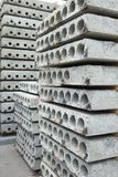 Precast reinforced concrete slabs royalty free stock photos