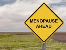 Precaución - menopausia a continuación Fotografía de archivo
