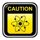 Precaución - radiactiva Imagen de archivo libre de regalías