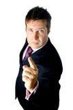 Precauciones del hombre de negocios. Foto de archivo libre de regalías