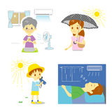 Precaution against hot weather Royalty Free Stock Photos