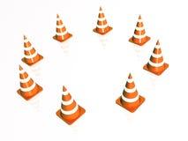 Precautionary cones Stock Photo
