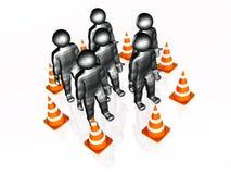 Precautionary cones Royalty Free Stock Photo