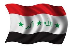 Precedente bandierina irachena Fotografia Stock Libera da Diritti