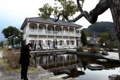 Precedente casa di bacino di Mitsubishi secondo in Glover Garden, Nagasaki Fotografia Stock