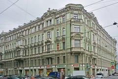 Precedente casa proficua di Cherepennikov mercantile in San Pietroburgo, Russia Fotografia Stock