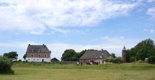 Precedente castello vicino a Nimega, Paesi Bassi immagini stock libere da diritti