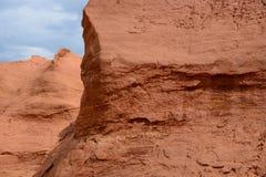 Precedente cava ocracea nel Roussillon, Francia Fotografia Stock Libera da Diritti