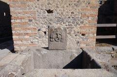 Precedente fontana potabile a Pompei Fotografia Stock