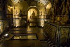 precedente monastero convertito in museo, ngel del  di San Ã, Città del Messico, Messico fotografia stock libera da diritti