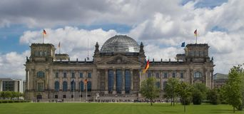 Precedente Reichstag Buidling immagine stock