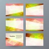 Precentat horizontal de PowerPoint del elemento del diseño del fondo de la bandera Fotos de archivo libres de regalías