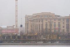 Prechistenskaya-Damm des Moskau-Flusses Lizenzfreie Stockfotos