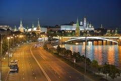 Prechistenskaya-Damm in Moskau, Russland Stockfotografie