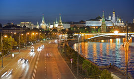Prechistenskaya-Damm in Moskau, Russland Stockfoto