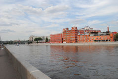 Prechistenskaya embankment. The Red October. Moscow Royalty Free Stock Images