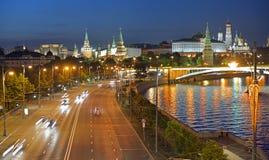 Prechistenskayadijk in Moskou, Rusland stock foto